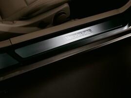 Накладки на пороги с подсветкой для Mercedes C207