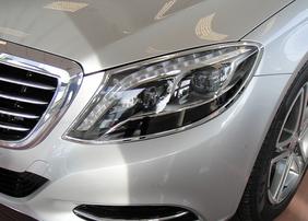 Хромированные накладки на фары Schatz для Mercedes S-Class W222