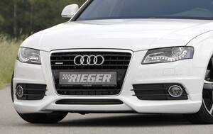 Накладка переднего бампера Rieger для Audi A4 B8