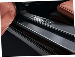 Накладки на пороги с подсветкой для Mercedes SL R230 03/06-03/08