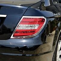 Хромированные накладки на фонари Schatz для Mercedes C-Class C204
