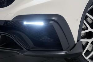 Карбоновые накладки воздуховодов переднего бампера Brabus для Mercedes GLE63 AMG Coupe