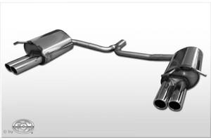 Раздвоенный глушитель FOX для Mercedes C180 С200 W204