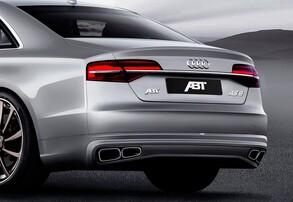Накладка заднего бампера ABT для Audi A8 4H