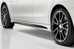 Накладки на пороги AMG для Mercedes C-Class W205