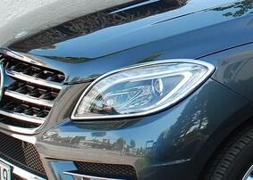 Хромированные накладки на фары Schatz для Mercedes ML W166