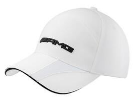 Белая бейсболка AMG