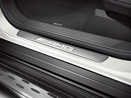 Накладки на пороги AMG с подсветкой для Mercedes ML GL