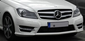 Решетка радиатора Coupe для Mercedes C-Class W204