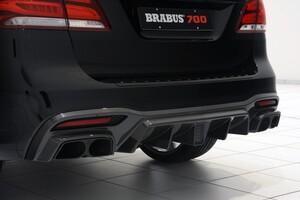Карбоновый диффузор Brabus для Mercedes GLE63 AMG W166