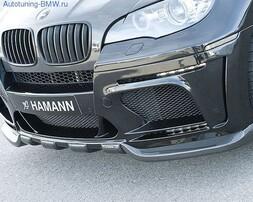 Карбоновая накладка на бампер передний BMW X6M E71