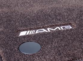 Велюровые коврики AMG для Mercedes SLK R171