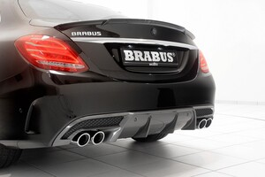 Накладка заднего бампера Brabus для Mercedes C-Class W205
