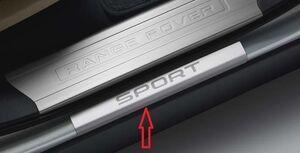 Накладки на пороги для Range Rover Sport L494