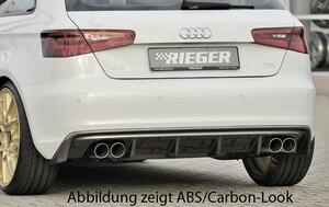 Накладка заднего бампера Rieger для Audi A3 8V