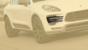 Карбоновые вставки в воздуховоды Mansory для Porsche Macan