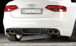 Накладка заднего бампера Rieger для Audi A4 B8