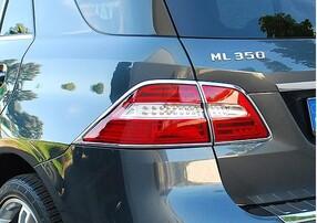 Хромированные накладки на задние фонари Schatz для Mercedes ML W166