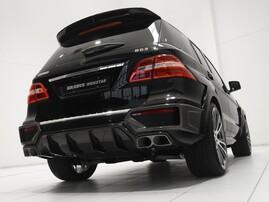 Накладки на задний бампер Brabus для Mercedes ML63 AMG W166