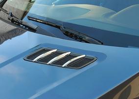 Хромированные накладки на капот Schatz для Mercedes ML W166