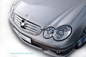Хром накладки на решетку радиатора Schatz для Mercedes CLK C209