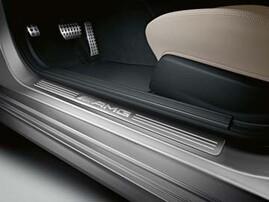 Накладки на пороги AMG для Mercedes C-Class W204