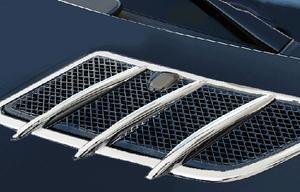 Хромированные накладки на капот Schatz для Mercedes SLK R171
