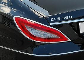 Хромированные накладки на задние фонари Schatz для Mercedes CLS C218