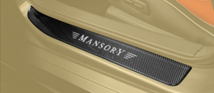 Карбоновые накладки на пороги Mansory с подсветкой для Mercedes GT AMG