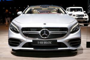 Передний рестайлинговый бампер AMG для Mercedes S Coupe C217