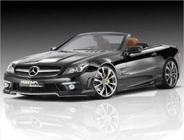 Накладка переднего бампера Piecha Design для Mercedes SL63 AMG R230 с 04/08