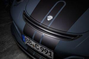 Карбоновая решетка на бампер Techart для Porsche 991