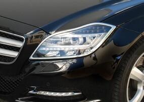 Хромированные накладки на фары Schatz для Mercedes CLS C218