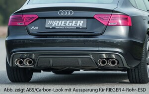 Накладка заднего бампера Rieger для Audi A5 Sportback B8 FL