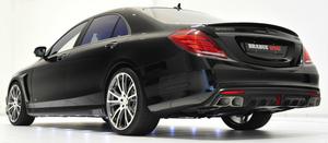 Диффузор заднего бампера Brabus для Mercedes S-Class
