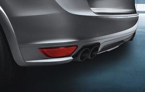 Черные насадки на глушители Porsche Cayenne 958