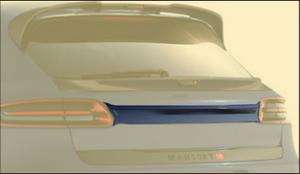 Карбоновая накладка на багажник Mansory для Porsche Macan