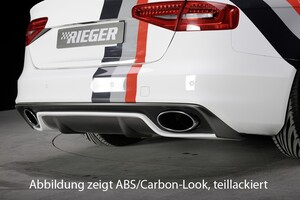 Накладка заднего бампера Rieger для Audi A4 B8 FL