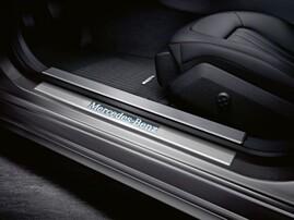 Накладки на пороги с подсветкой для Mercedes