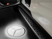 Проекция логотипа Mercedes для S-Class W222