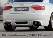 Накладка заднего бампера Rieger для Audi A5 Sportback B8