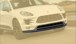 Карбоновая накладка переднего бампера Mansory для Porsche Macan