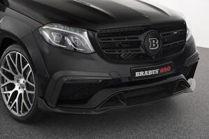Карбоновая накладка переднего бампера Brabus для Mercedes GLS63 AMG