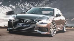 Накладка переднего бампера JMS для Audi A6 C8 F2