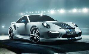 Боковые пороги Techart для Porsche 991 Turbo/Turbo S