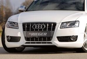 Накладка переднего бампера Rieger для Audi A5 B8