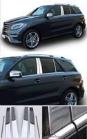 Хромированные накладки на дверные стойки Schatz для Mercedes ML W166