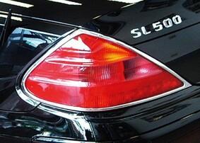 Хромированные накладки на задние фонари Schatz для Mercedes SL R230