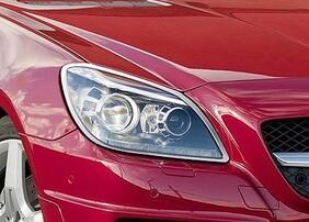 Хромированные накладки на фары Schatz для Mercedes SLK R172