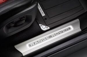 Накладки на пороги с подсветкой для Range Rover Sport